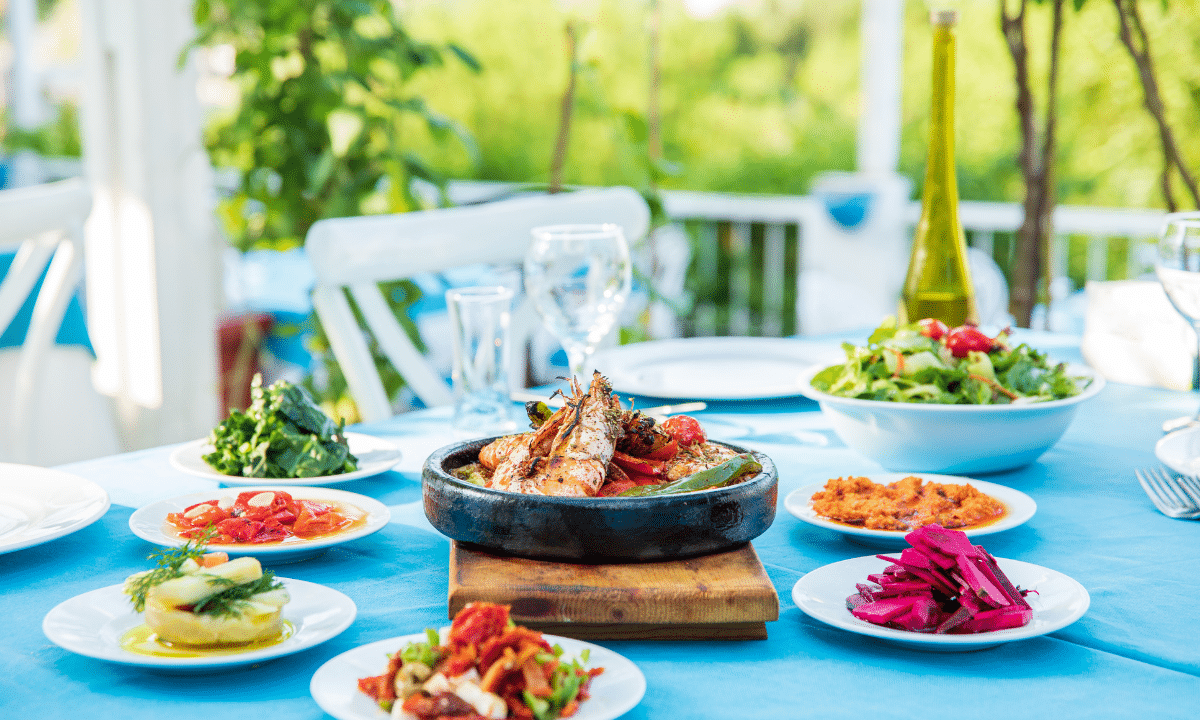 Meal in the Mediterranean