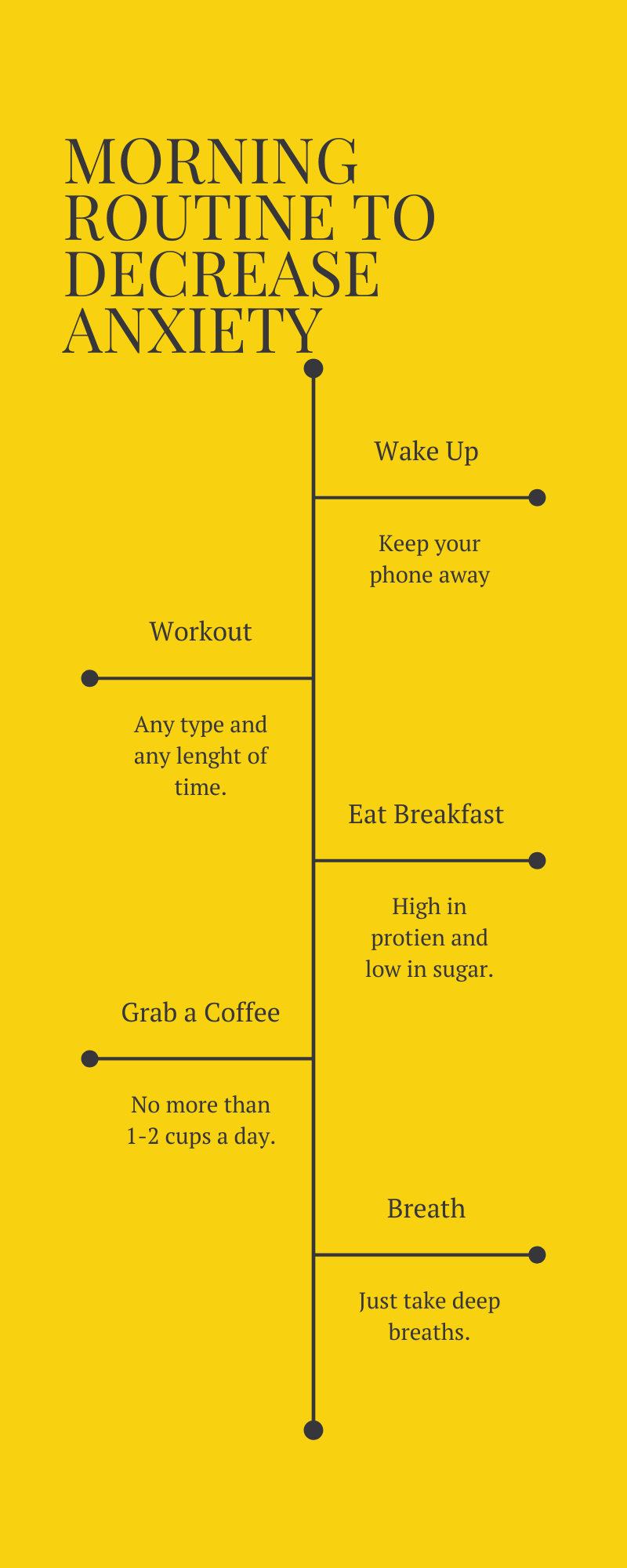 Morning Routine to decrease anxiety